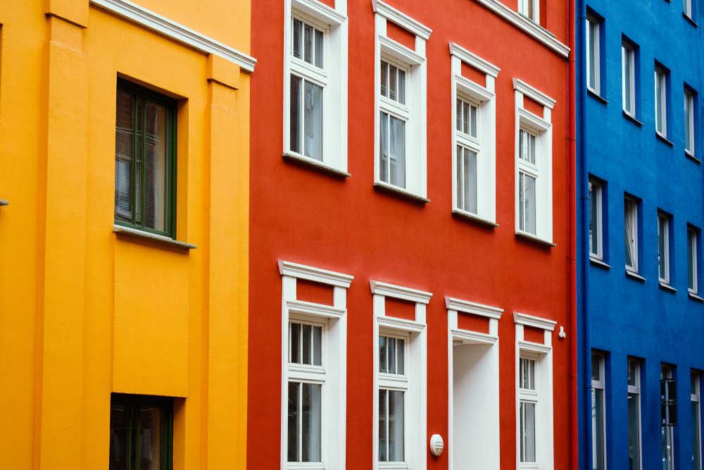 Cómo se pueden elegir colores para las fachadas